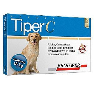 Antipulgas Tiper C para Cães de 15 kg a 40 kg Brouwer