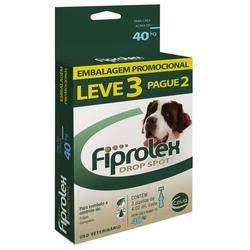 Combo Antipulgas Fiprolex Ceva para Cães Acima 40 kg