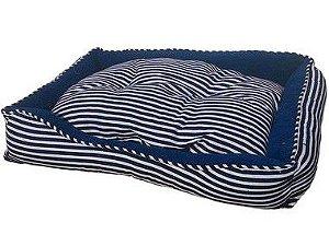 Cama Retangulo Confort Tecido Azul Vdk