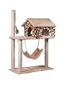 Arranhador Grande Casa com Rede Catnip