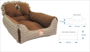 Cama Sofa luxo Via Santa Pet