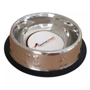 Comedouro Inox Base Anti-Derrapante German Hart