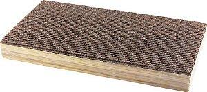 Arranhador 2X1 Papelão e Carpete com Catnip Pawise