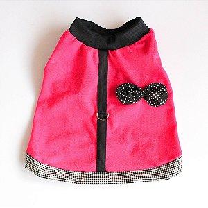 Camiseta Malha Rosa/Preto