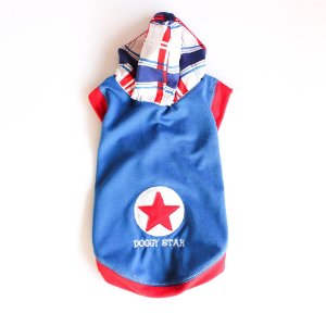 Camiseta Malha Azul Estrela