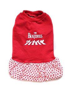 Vestido em Moletom Beatdogs Vermelho