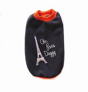 Moletom Azul/Laranja Chic Dog Paris