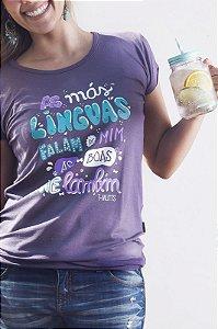 Camiseta Feminina - Boas Línguas