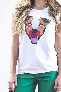 Camiseta Feminina - Cachorro Geométrico
