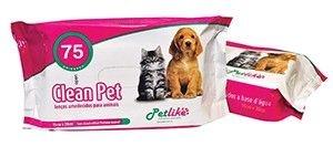 Lenços Umedecidos  Banho Seco Clean Pet