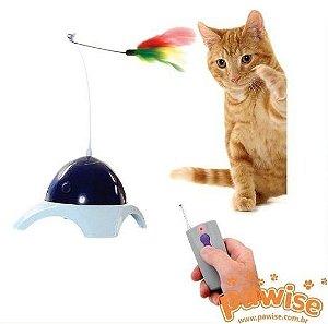 Interativo Gato com controle Remoto Pawise