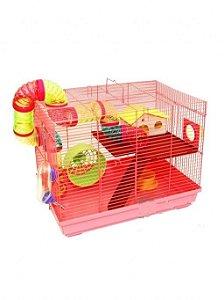 Gaiola Hamster Luxo Rosa