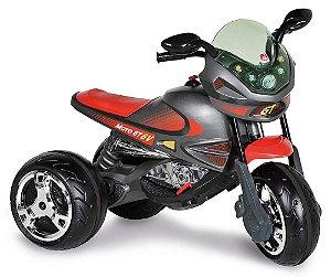 Super Moto Elétrica Infantil GP Grafite 6v Bandeirante