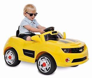 Mini Veículo Brinquedo Camaro Amarelo Elétrico Bandeirante
