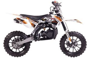 Mini Moto MXF Minicross 49cc com partida elétrica