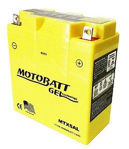 Bateria Gel Motobatt Mtx5al Yb5l-b Dafra Super 100
