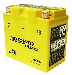 Bateria Gel Motobatt Mtz6s Yzt7s Yamaha Fazer 250 YS