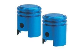 Tampa De Válvula Azul Bico Para Pneu Pistão De Moto