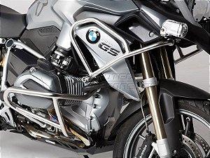 Protetor De Motor Lateral Superior Prata Semi-Brilho BMW R 1200GS