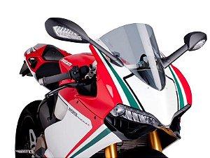 Bolha Racing Em Acrílico Fumê Clara Ducati Panigale 1199 Puig