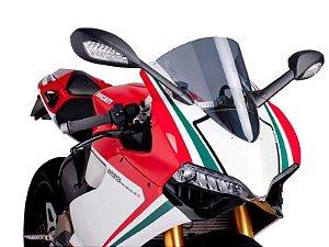 Bolha Racing Em Acrílico Fumê Escura Ducati Panigale 1199 Puig