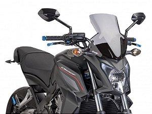 Bolha Naked Sport Em Acrílico Fumê Clara Honda CB 650F Hornet Puig