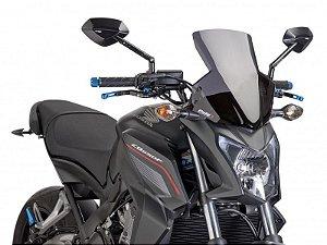 Bolha Naked Sport Em Acrílico Fumê Escura Honda CB 650F Hornet Puig