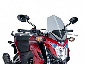 Bolha Naked Em Acrílico Fumê Clara Honda CB 500F