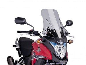 Bolha Touring Em Acrílico Fumê Clara Honda CB 500X Puig