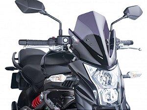 Bolha Naked Em Acrílico Fumê Escura Kawasaki ER-6N Puig