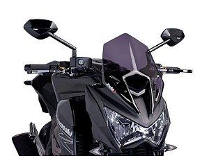 Bolha Naked Em Acrílico Fumê Escura Kawasaki Z800 Puig