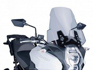 Bolha Touring Em Acrílico Fumê Clara Kawasaki Versys 1000 Puig