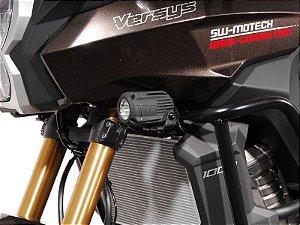 Kit de Fixação de Farol Auxiliar Preto SW-Motech Kawasaki Versys 1000