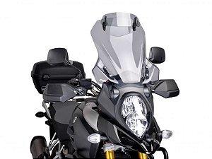 Defletor De Vento Para Bolha Touring em Acrílico com Defletor Suzuki V-Strom 1000 Puig