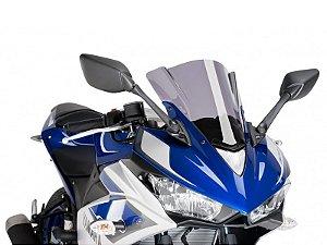 Bolha Racing Em Acrílico Fumê Clara Yamaha YZF R3 2016 Puig