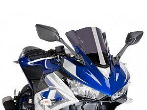 Bolha Racing Em Acrílico Fumê Escura Yamaha YZF R3 2016 Puig