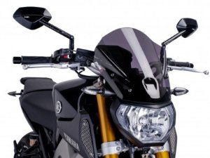 Bolha Naked Touring Em Acrílico Fumê Escura Yamaha MT-09 Puig