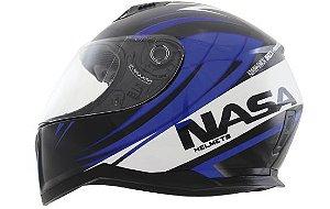 Capacete Nasa Sh-881 Valência Preto e Azul