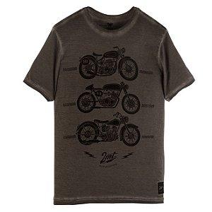 Camiseta 2mt Custom Cafe Racer Corrida Moto Marrom