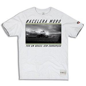 Camiseta 2mt Acelera Moro Mmt Branca