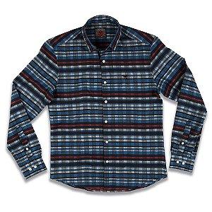 Camisa Social Xadrez Slim Fit Traditional Rustic 2mt Mmt Masculina