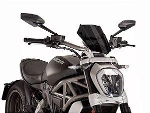 Bolha Párabrisa Naked Sport Fumê Escuro Ducati X-Diavel Puig