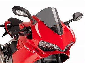 Bolha Racing Fumê Escura Acrílico Ducati 959 Panigale Puig