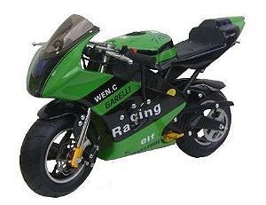Mini Moto Esportiva Corrida Garelli 49cc Pina Gasolina Verde