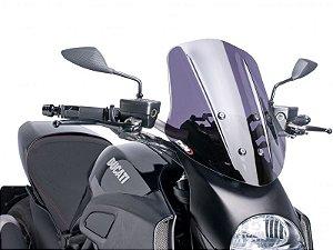 Bolha Naked Touring Fumê Escura Ducati Diavel Puig 2013-2015