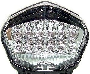 Lanterna com Pista Integrado Kawasaki Ninja 250R Cristal