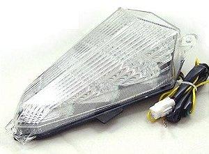 Lanterna com Pista Integrado Yamaha R6 Cristal 2006 - 2014