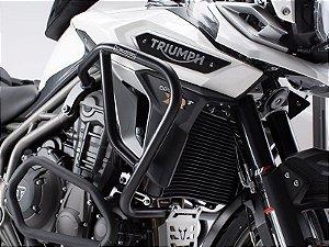 Protetor de Motor Lateral Preto Triumph Tiger 1200 Explorer 2016 em diante