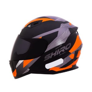 Capacete Shiro Sh881 BRNO Fosco - Preto e Laranja