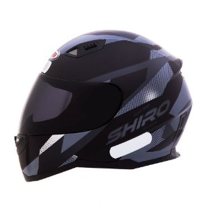 Capacete Shiro Sh881 BRNO Fosco - Preto e Cinza